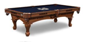 Utah State Aggies Billiard Table With Logo Cloth