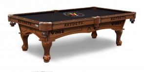 Virginia Military Institute Billiard Table with Logo Cloth