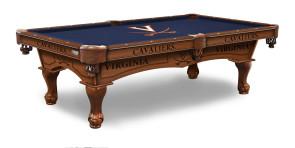 University of Virginia Cavaliers Billiard Table with Logo Cloth