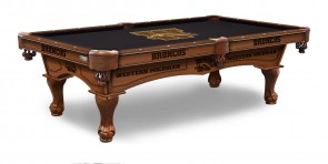 Western Michigan Broncos Billiard Table with Logo Cloth