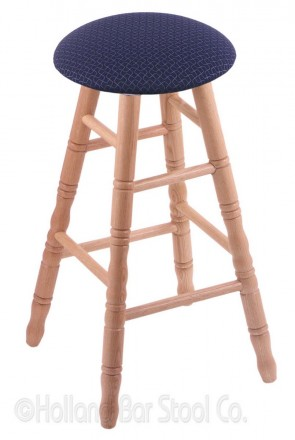 Round Cushion Domestic Hardwood Swivel Stool