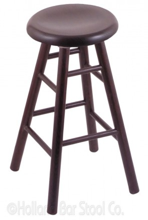 Saddle Dish Domestic Hardwood Swivel Stool