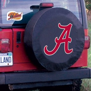 Alabama A Black Tire Cover Lifestyle