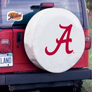 Alabama A Tire Cover White Lifestyle