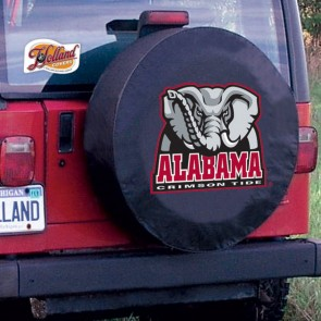Alabama Elephant Black Tire Cover Lifestyle