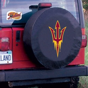 Arizona State Pitchfork Black Tire Cover Lifestyle