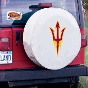 Arizona State Pitchfork White Tire Cover Lifestyle