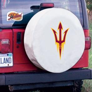 Arizona State Pitchfork White Tire Cover Lifestyle
