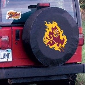 Arizona State Sparky Black Tire Cover Lifestyle