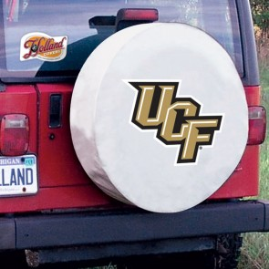Central Florida White Tire Cover Side View