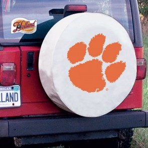 Clemson White Tire Cover Lifestyle