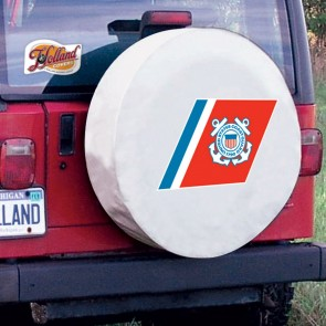 US Coast Guard Logo Tire Cover - White