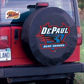 DePaul Black Tire Cover Lifestyle