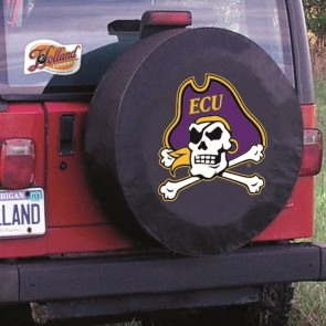 East Carolina Black Jeep Tire Cover