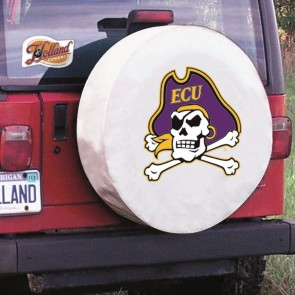 East Carolina White Jeep Tire Cover