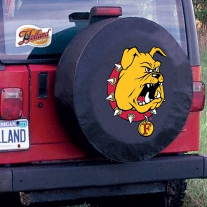 Ferris State Black Tire Cover Lifestyle