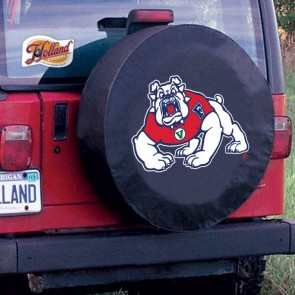 Fresno State Black Tire Cover Lifestyle