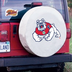 Fresno State White Tire Cover Lifestyle