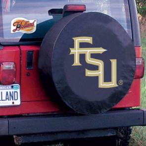 FSU Script Black Tire Cover Lifestyle