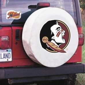 Florida State University White Tire Cover