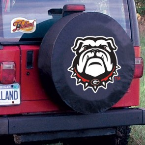 Georgia Bulldog Black Tire Cover Lifestyle