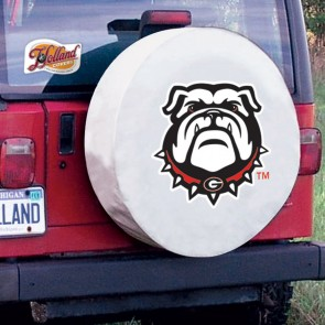 Georgia Bulldog White Tire Cover Lifestyle