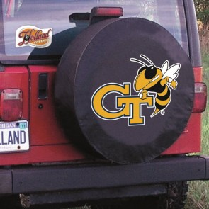 Georgia Tech Logo Tire Cover - Black