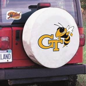 Georgia Tech White Tire Cover Lifestyle