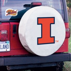 Illinois White Tire Cover Lifestyle