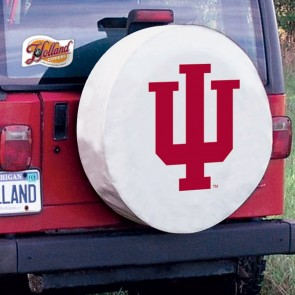 Indiana White Tire Cover Side View