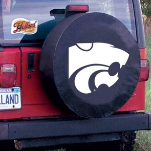 Kansas State Black Tire Cover Lifestyle
