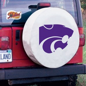 Kansas State White Tire Cover Lifestyle