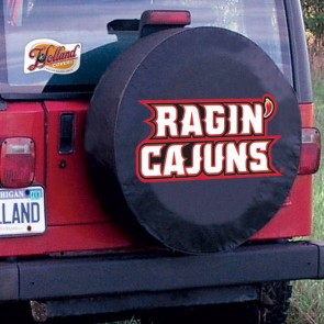 Louisiana at Lafayette Black Tire Cover Lifestyle