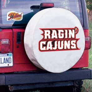 Louisiana at Lafayette White Tire Cover Lifestyle
