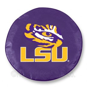 Louisiana State University Logo Tire Cover - Purple