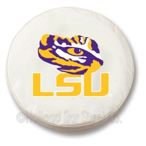 Louisiana State University Logo Tire Cover - White