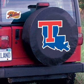 Louisiana Tech Black Tire Cover Lifestyle