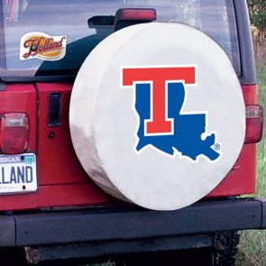 Louisiana Tech White Tire Cover Lifestyle