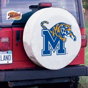 University of Memphis Logo Tire Cover - White