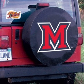 Miami University Logo Tire Cover - Black