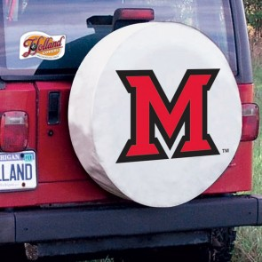 Miami University Tire Cover White