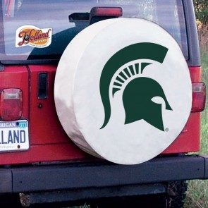 Michigan State University Logo Tire Cover - White