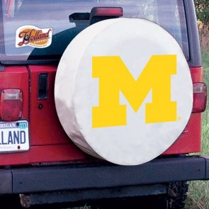 University of Michigan Logo Tire Cover - White