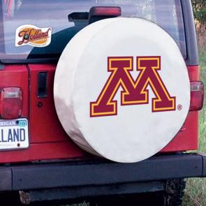 University of Minnesota Logo Tire Cover - White