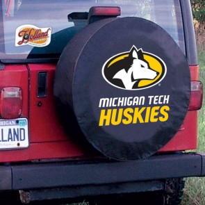 Michigan Tech Logo Tire Cover - Black