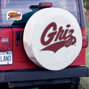 University of Montana Logo Tire Cover - White