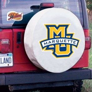 Marquette University Tire Cover White