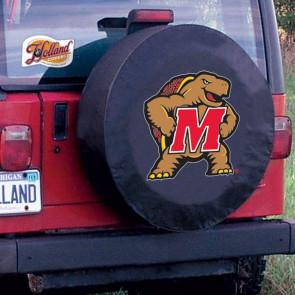 University of Maryland Logo Tire Cover - Black