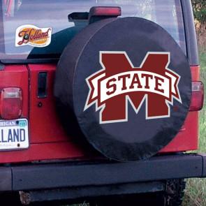 Mississippi State University Logo Tire Cover - Black