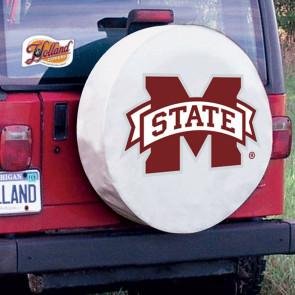 Mississippi State University Logo Tire Cover - White